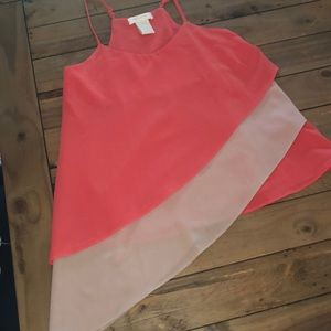 MM Couture by Miss Me Coral Tiered Tank Top